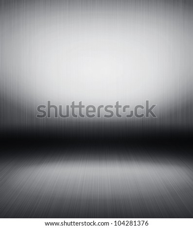 High resolution brushed metal texture abstract background - stock photo