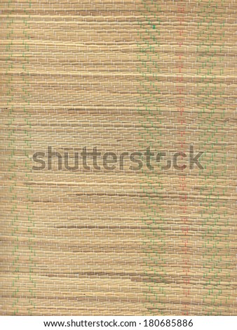 High resolution close-up of a straw beach mat. - stock photo
