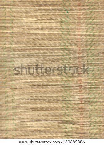 High resolution close-up of a straw beach mat. - stock photo
