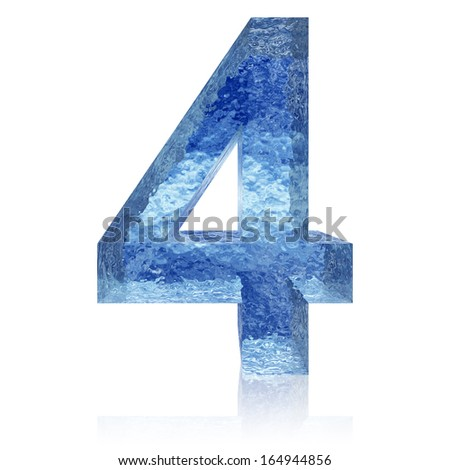 High resolution concept conceptual 3D blue water or ice font part of collection isolated on white background,metaphor to summer,spring or winter,fresh,frost,liquid,Christmas,eco,ecology,drink or cool