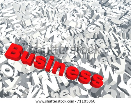 High resolution conceptual 3D red text saying business, isolated on white background