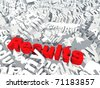 High resolution conceptual 3D red text saying results, isolated on white background - stock photo