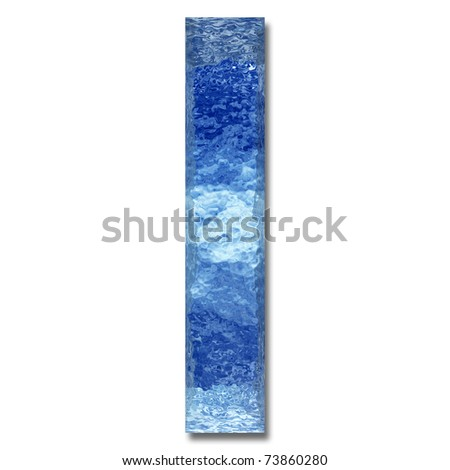 High resolution conceptual 3D water or ice font isolated on white background, ideal for natural, summer or fresh designs. It is part of a group or collection.