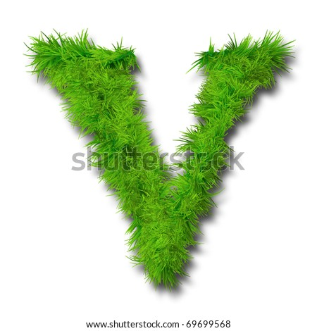 High resolution conceptual green grass font isolated o white background