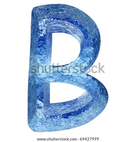 High resolution conceptual ice or water font isolated