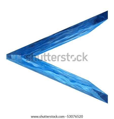 High resolution 3D blue water symbol isolated on white background