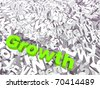 High resolution 3D conceptual growth text isolated on white background - stock photo