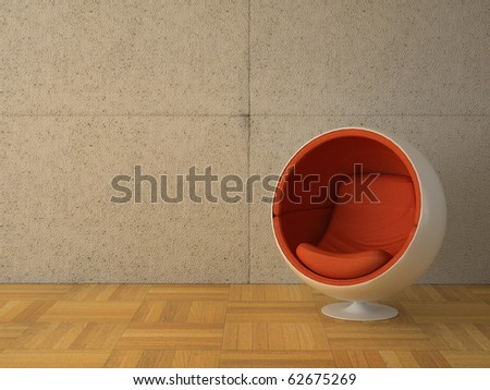 high resolution 3d image of a modern interior - stock photo
