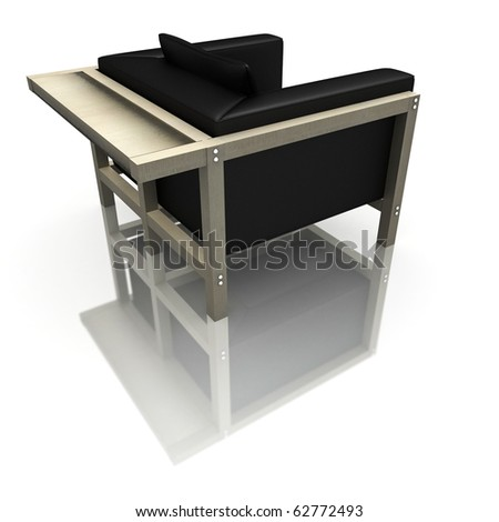 high resolution 3d render of a modern chair