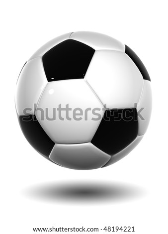 High resolution 3D soccer ball isolated on white background