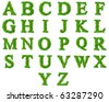 High resolution grass font collection isolated on white - stock vector