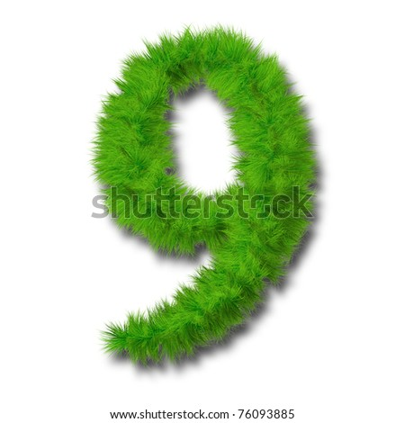 High resolution grass font isolated on white background, ideal for summer, spring or ecological designs