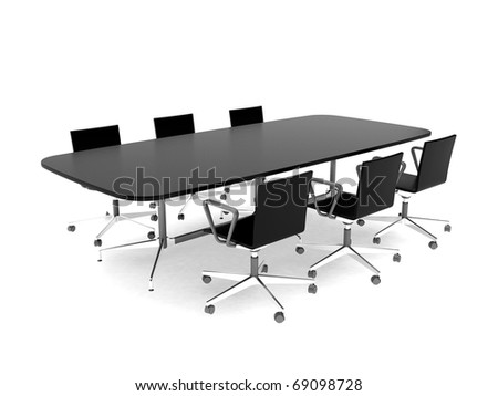 High resolution image interior. 3d illustration modern interior. Office room. - stock photo