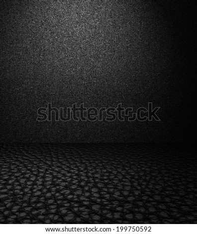 High resolution image of black leather. - stock photo
