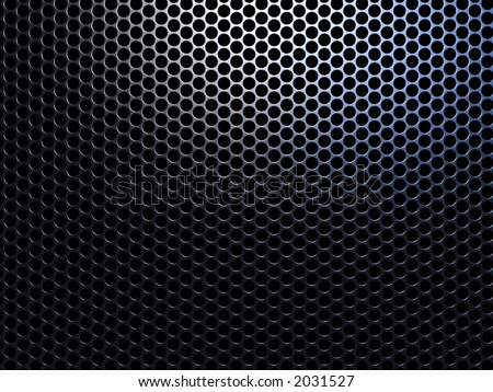 High resolution metal mesh grille. Uneven diffuse lighting version. Design component - stock photo