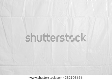 High resolution of crumpled white plastic sheet , crumpled white vinyl canvas - stock photo