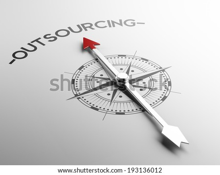 High Resolution Outsourcing Concept - stock photo