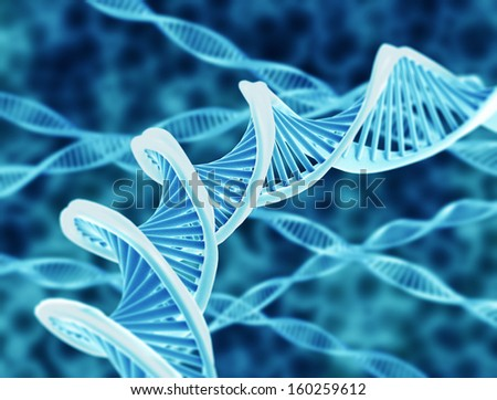 High resolution render of DNA double helix  - stock photo