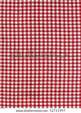 High resolution scan of a red and white fabric useful as texture or background - stock photo