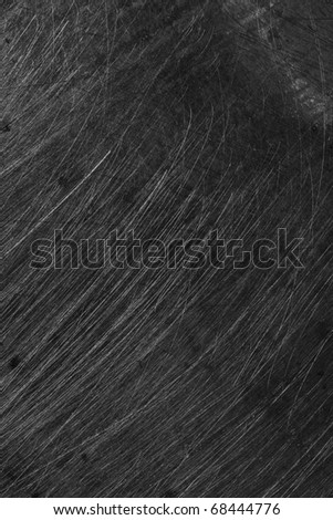 high resolution scratches on metal surface - stock photo