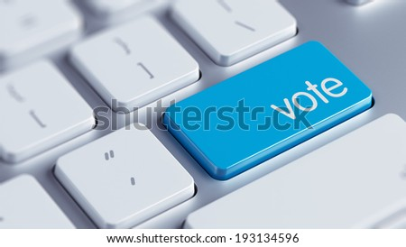 High Resolution Vote Concept - stock photo