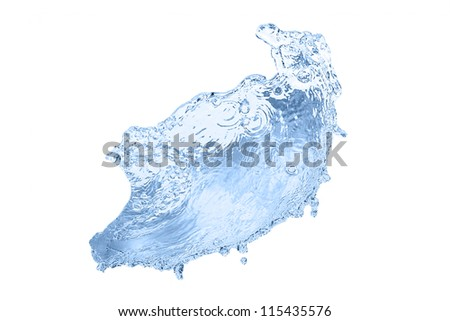 High resolution water splash isolated on white background