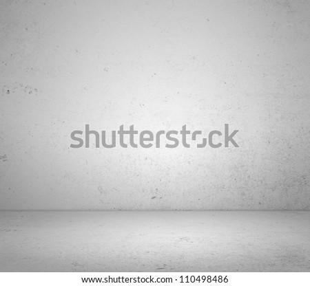 High resolution white plaster room - stock photo