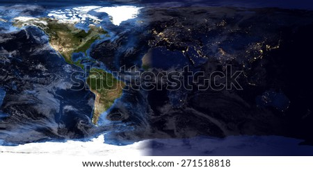 High resolution world map day night stock illustration 271518818 high resolution world map day night compilation original maps provided by nasa gumiabroncs Image collections