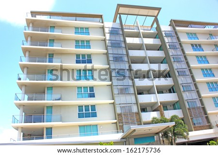 High- rise apartments - stock photo