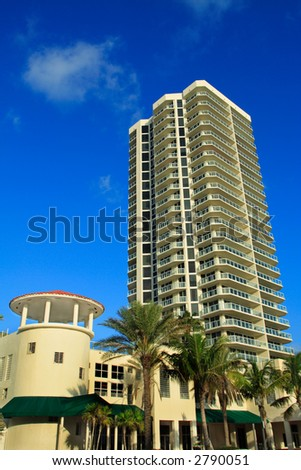 High Rise, Blue Sky - stock photo