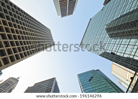 High rise building to sky - stock photo