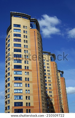 high-rise buildings - stock photo