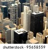 High Rise Buildings at Downtown Chicago, Illinois - stock photo
