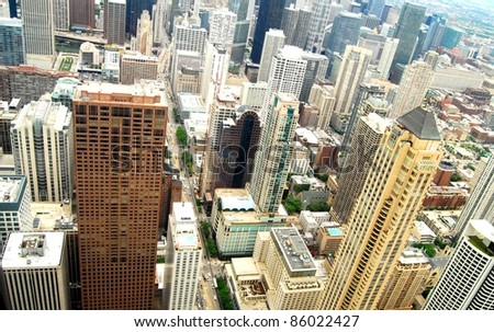 High Rise buildings in Chicago, Illinois USA