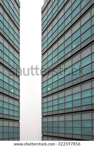High rise modern building as pattern and background