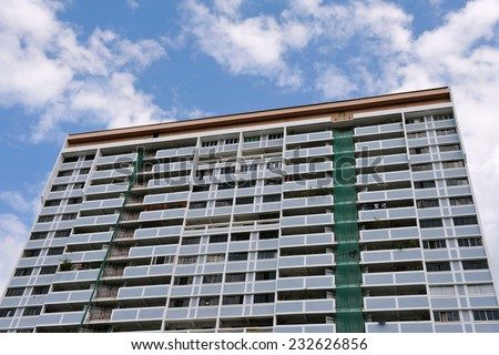 High Rise Tower Block Background - stock photo