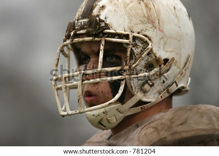 High School football. Horizontal (one of two photos).Editorial use only. - stock photo