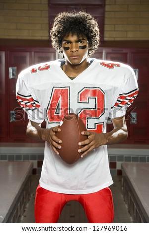 High School football player - stock photo