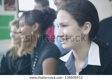 High school students in classroom - stock photo