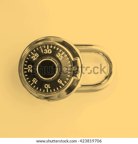 High security single dial stoplock combination padlock - vintage sepia look