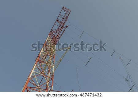 high send system and blue sky in summer
