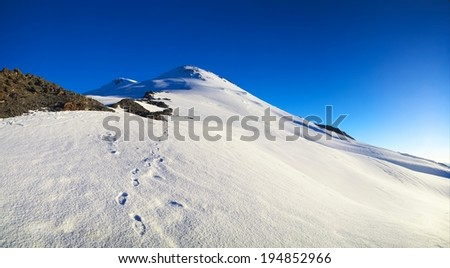 High snow mountains. Beautiful natural landscape