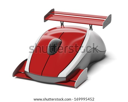 High speed computer mouse - stock photo