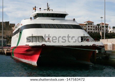 High speed ferryboat from Tarifa, Spain to Tanger Morocco