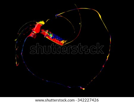 high speed image of paint streaking - stock photo