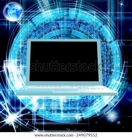 High Speed Internet.Connection - stock photo