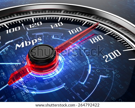 High speed internet connection concept - stock photo