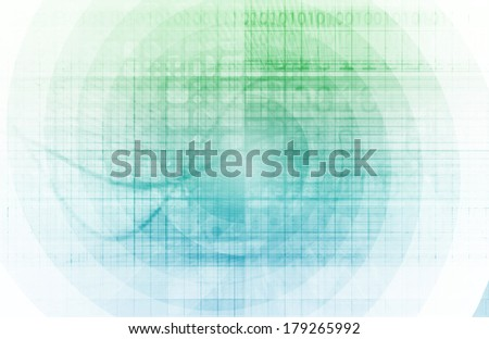High Speed Internet with Fast Moving Data Info - stock photo