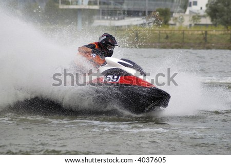 High-speed jetski5 - stock photo
