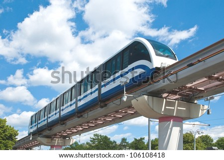 High Speed Monorail Train, Moscow, Russia.